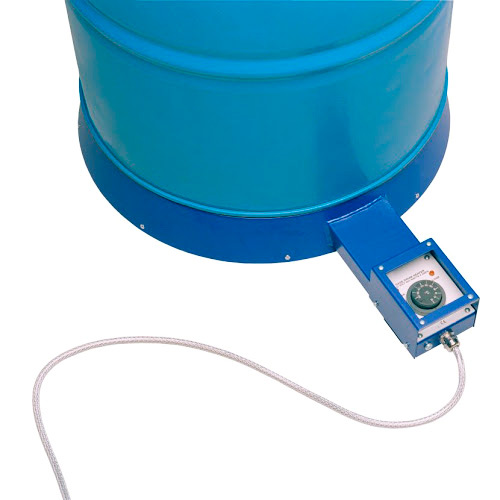 Base calefactora con termostato regulable para bidón
